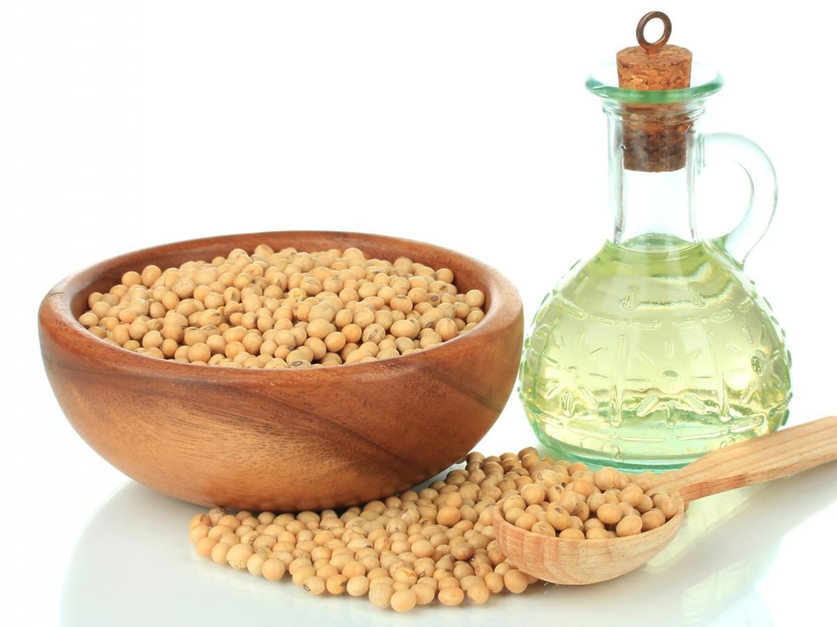 Ziarna soi i olej sojowy
