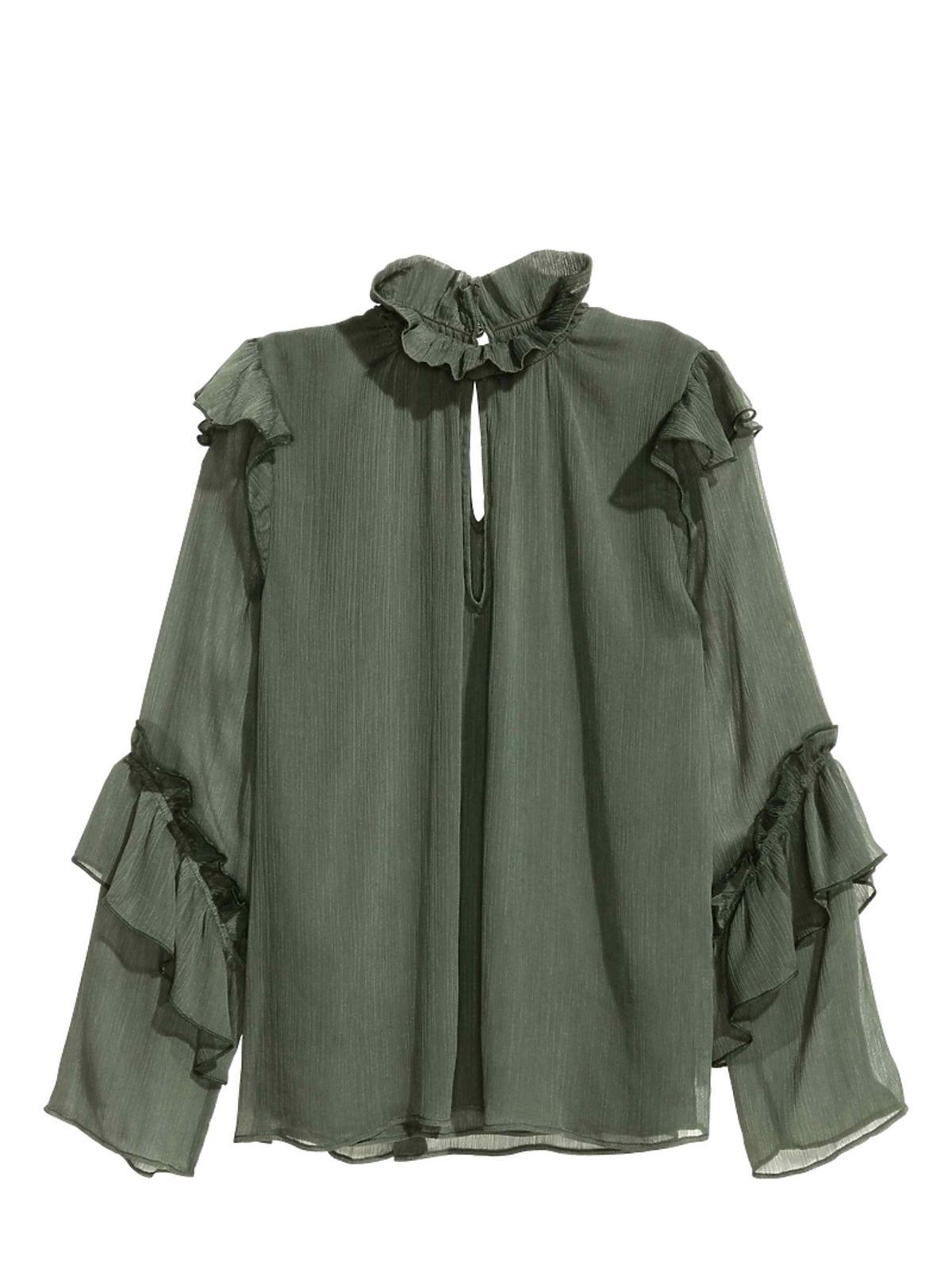 Zielona Koszula ze stójką H&M