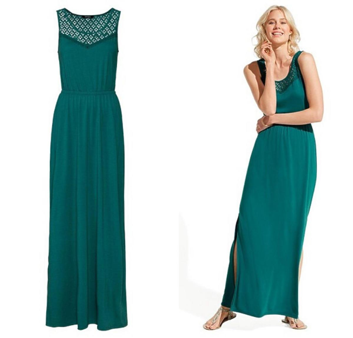 Zielona sukienka maxi Lidl