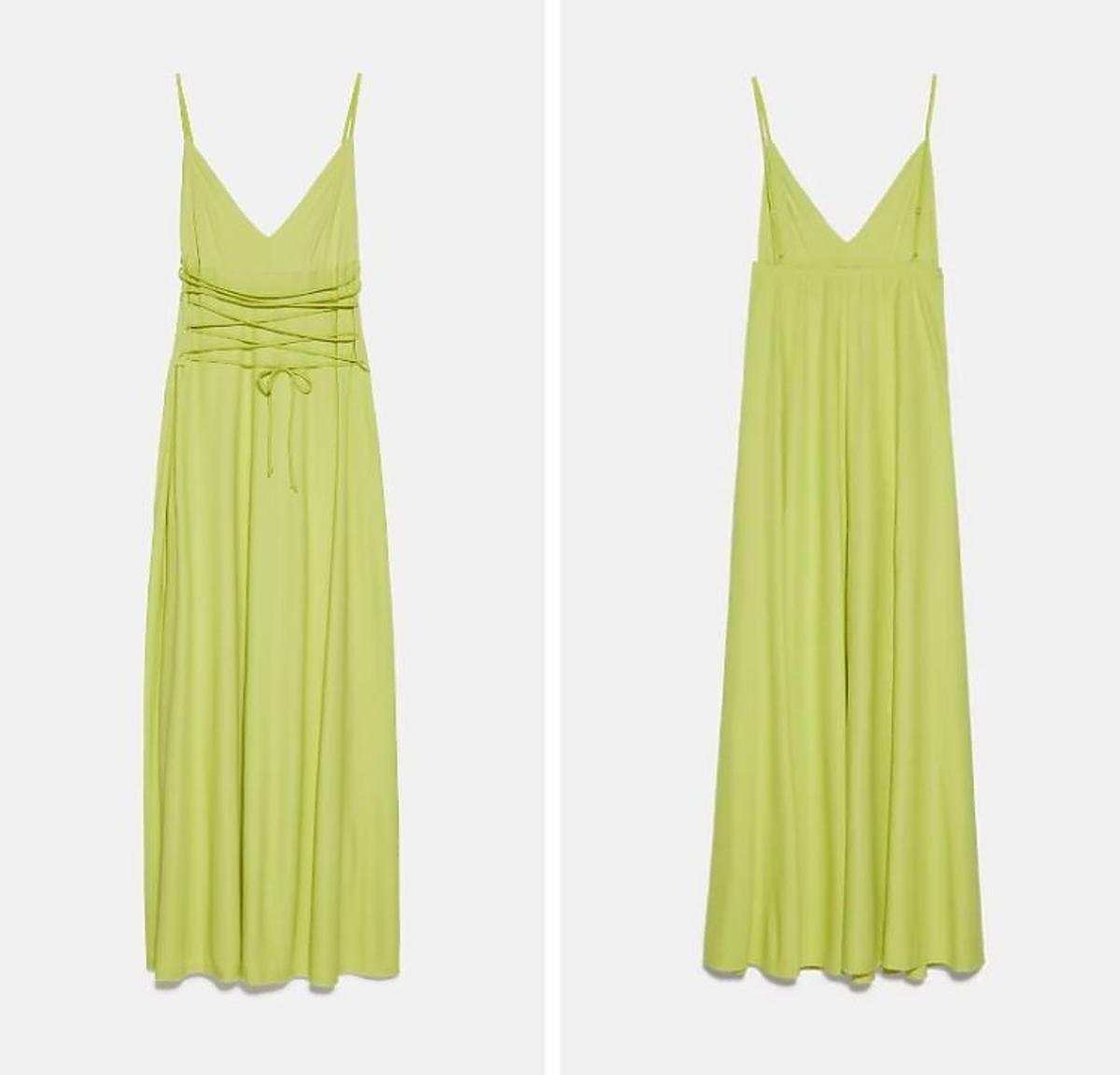 Zielona sukienka na ramiączka z Zary