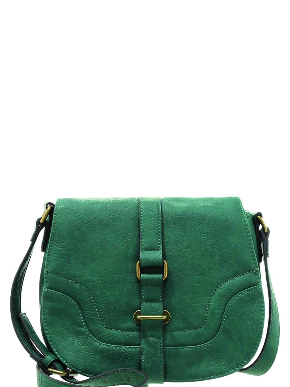 zielona torba na pasku