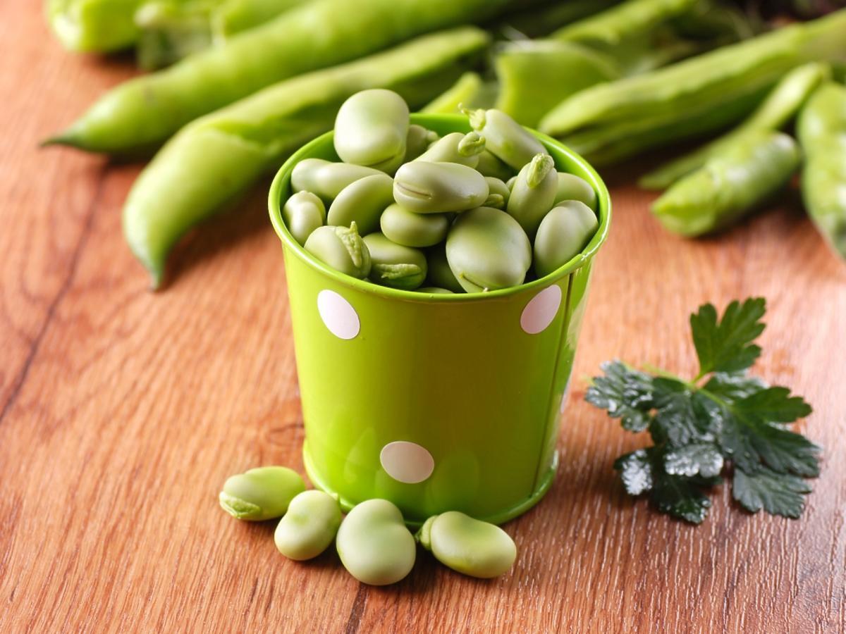 zielony blaszany pojemnik z bobem