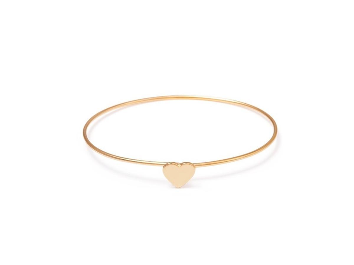Złota bransoleta z sercem