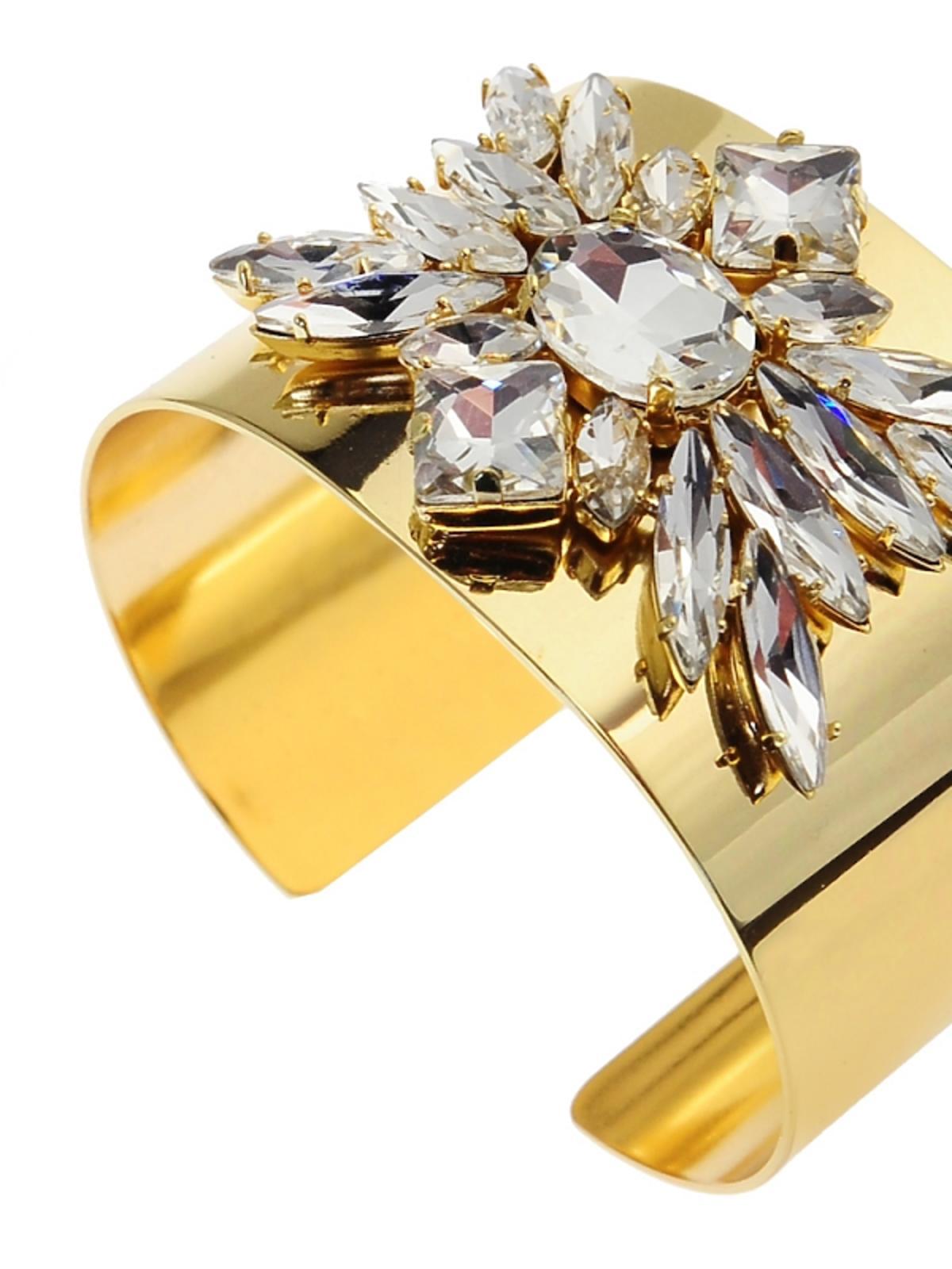 złota bransoletka z kryształkami