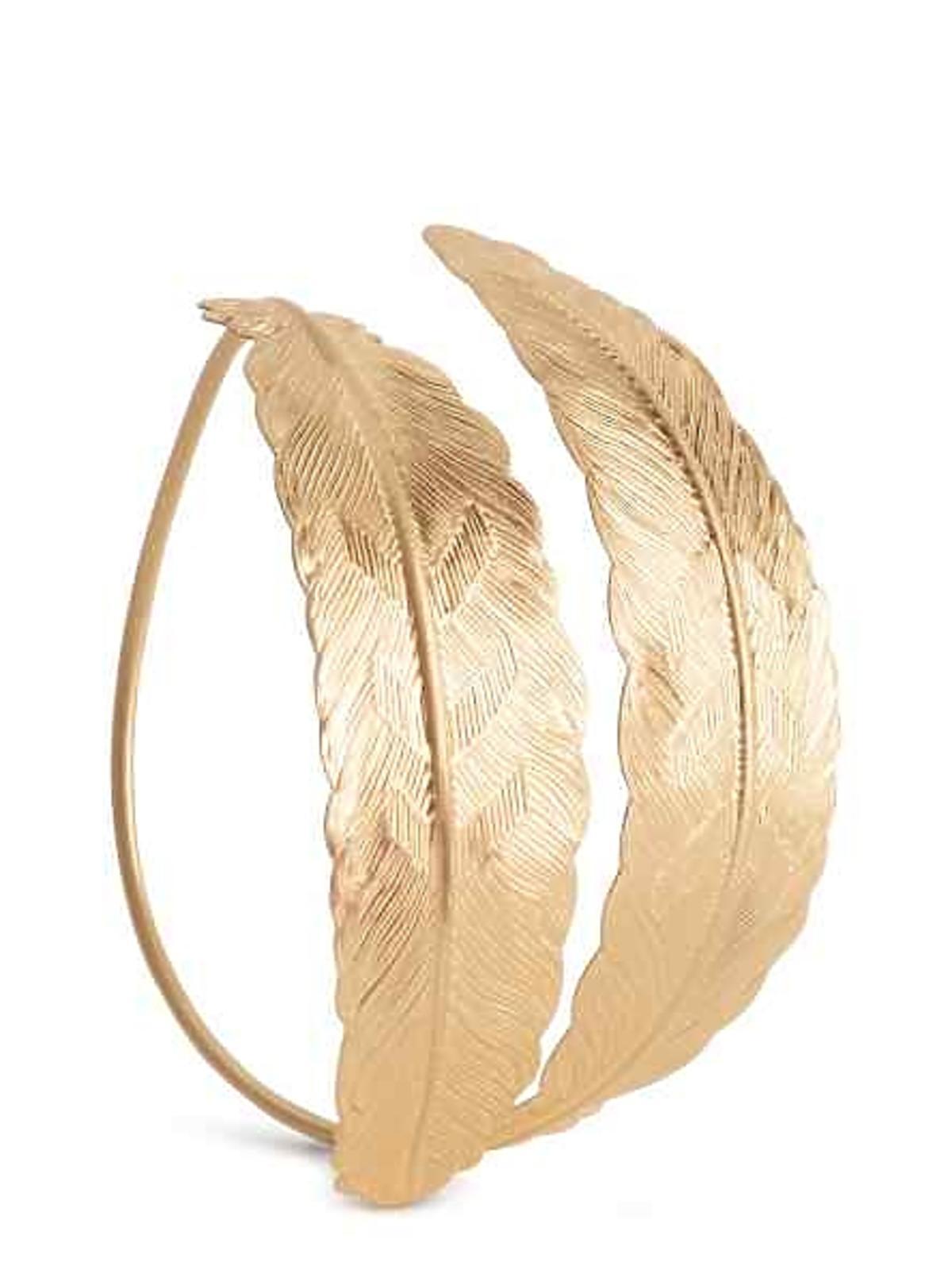 Złota bransoletka z piórami