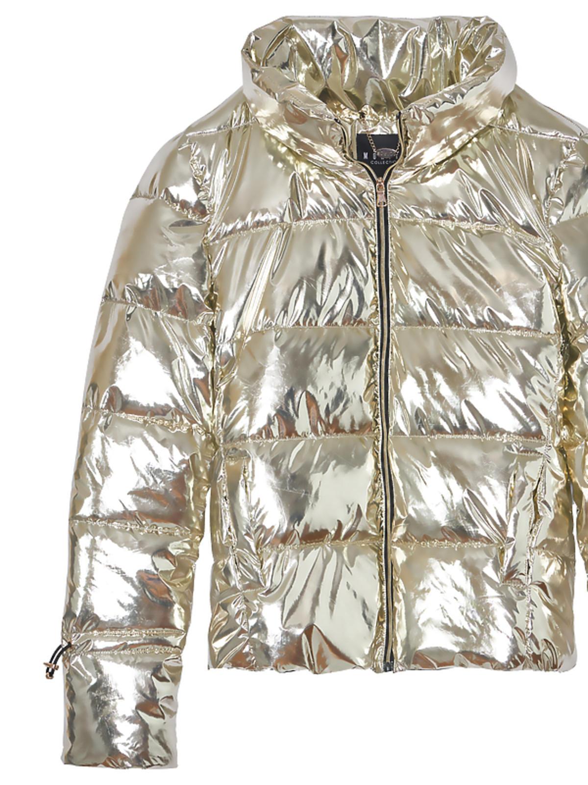 złota kurtka puchowa Mohito