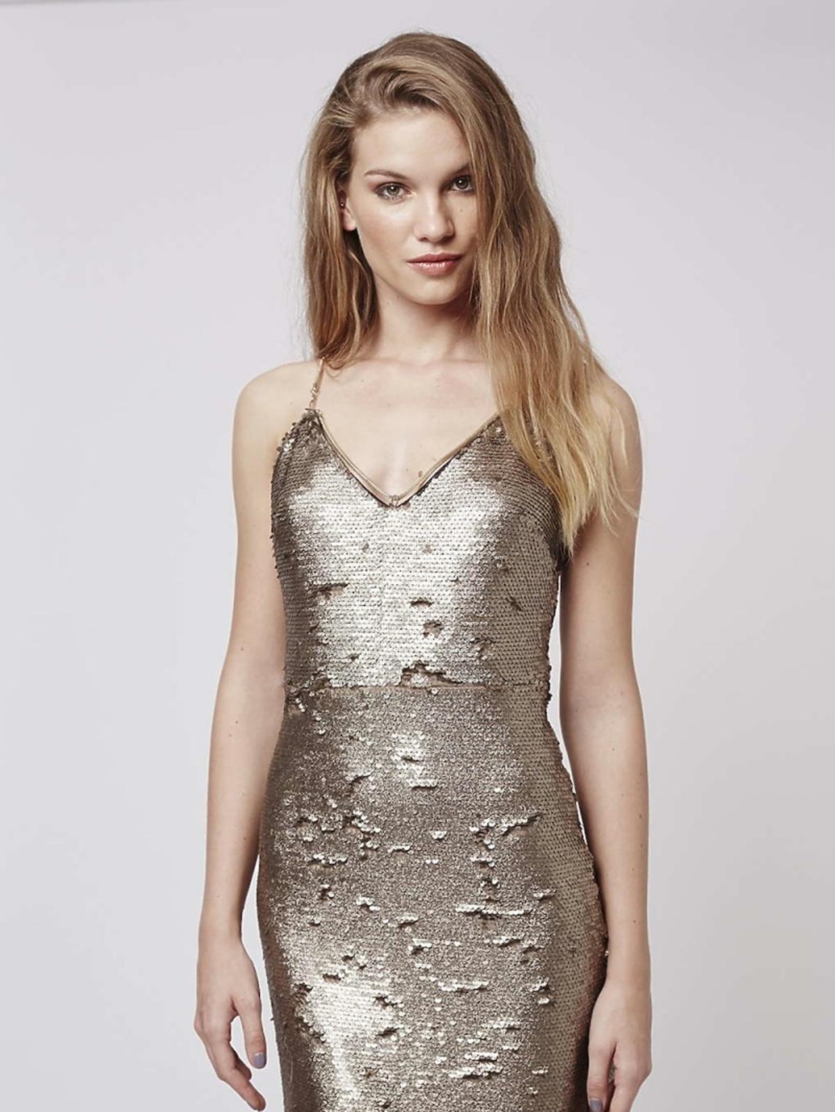 Sukienka z cekinów Topshop, ok. 200 zł (było: ok. 430 zł)
