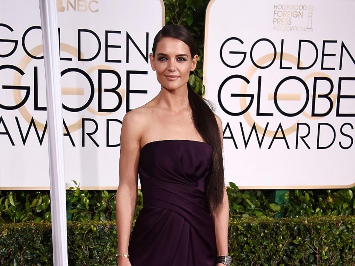 Złote Globy 2015: Katie Holmes w sukni Marchesa