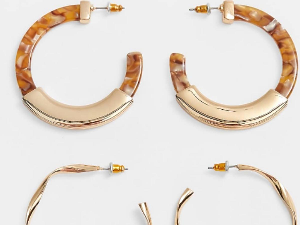 złote kolczyki koła Stradivarius 2 szt. op