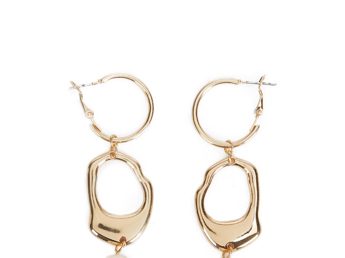 złote kolczyki z perłami Parfois