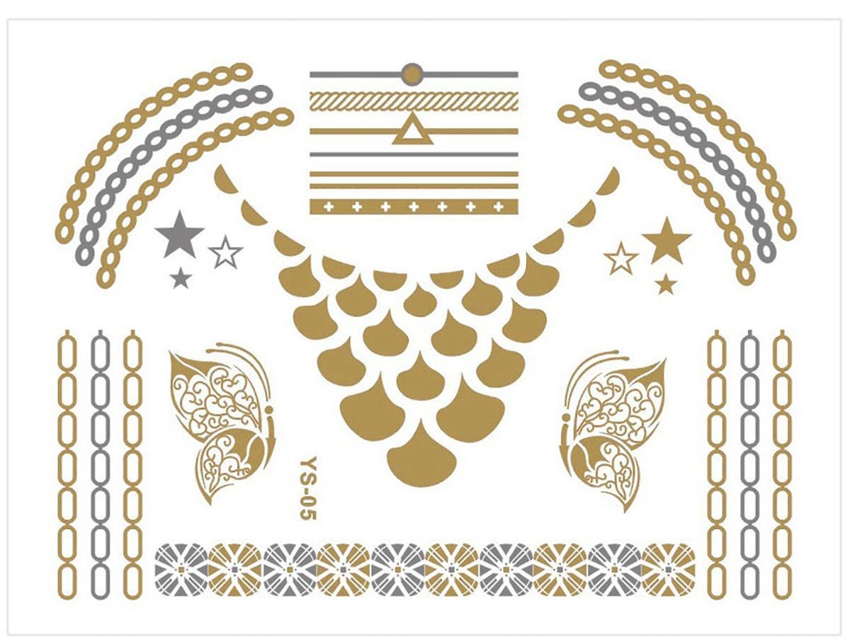 Naklejane tatuaże Metallic Body Tattoo, SUNEW, 19,99 zł