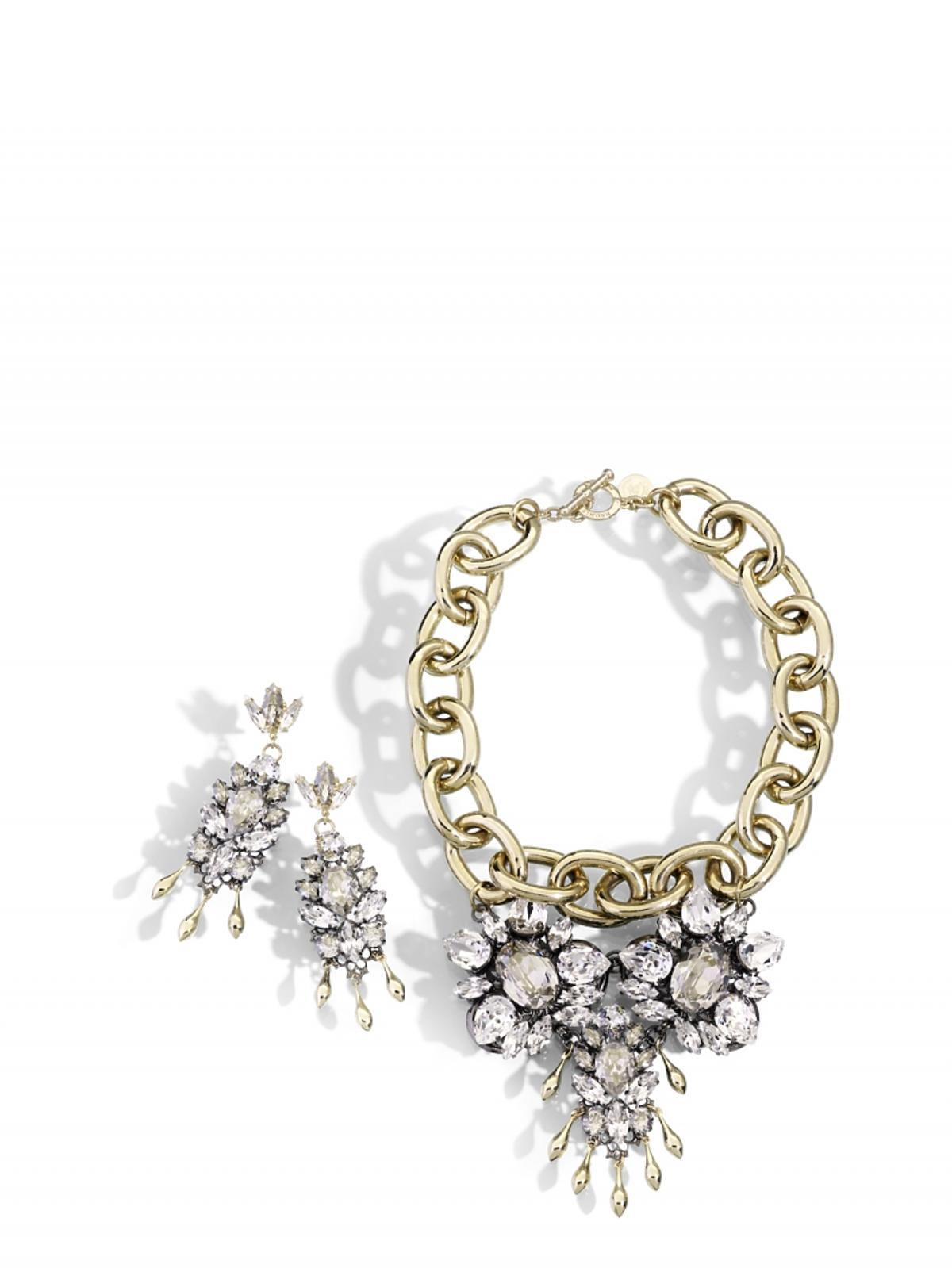 złoty naszyjnik z kryształkami