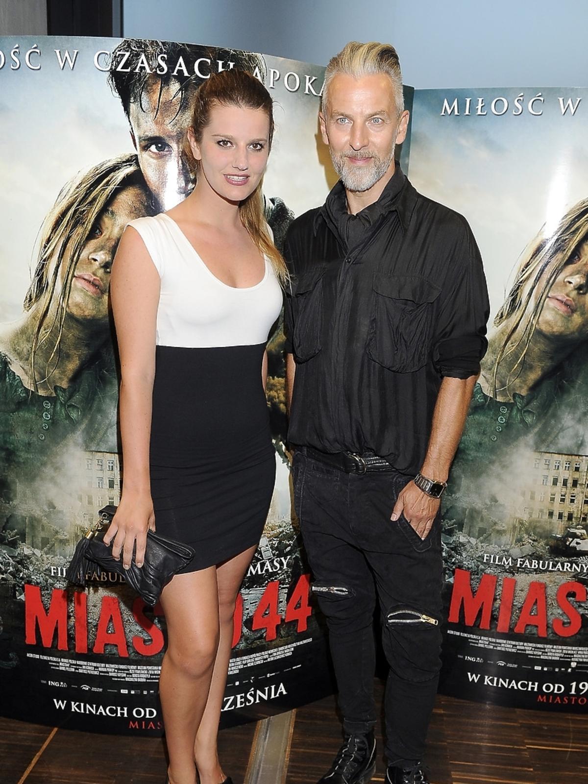 Zofia Zborowska i Robert Kupisz na premierze filmu Miasto 44