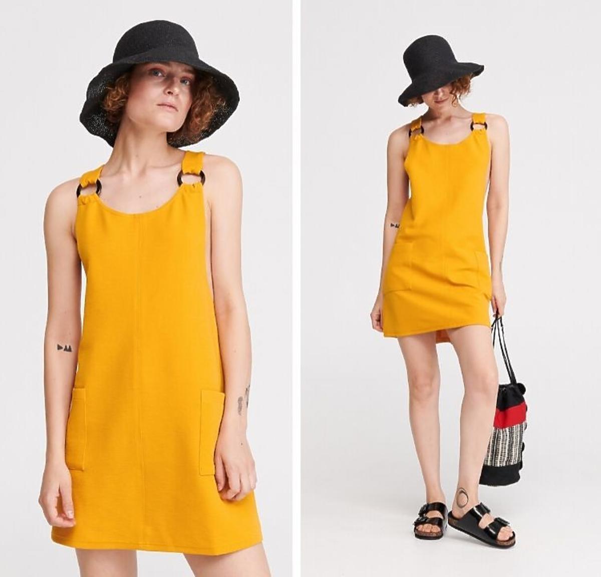 Żółta sukienka wyprzedaż Reserved