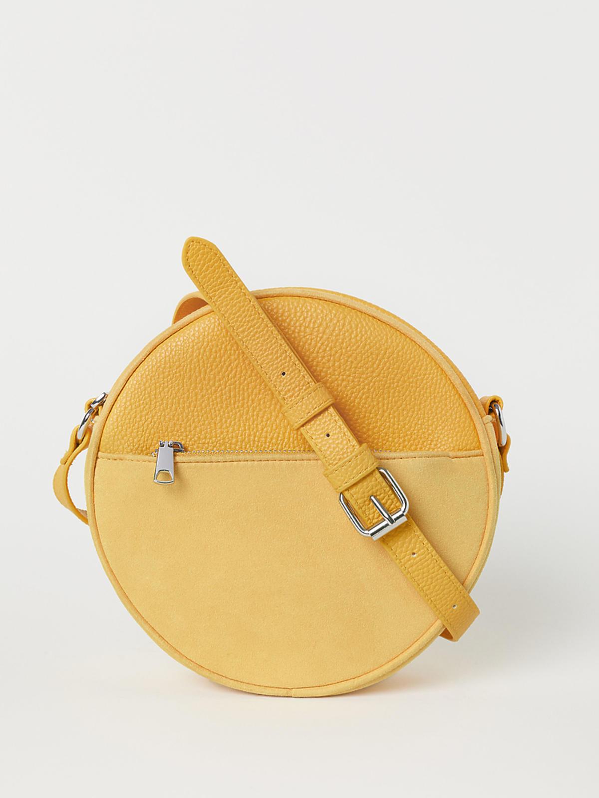 żółta torebka H&M