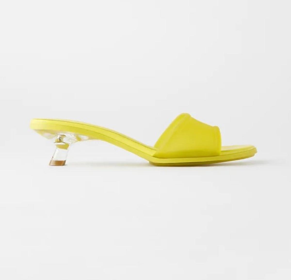 Żółte klapki Zara