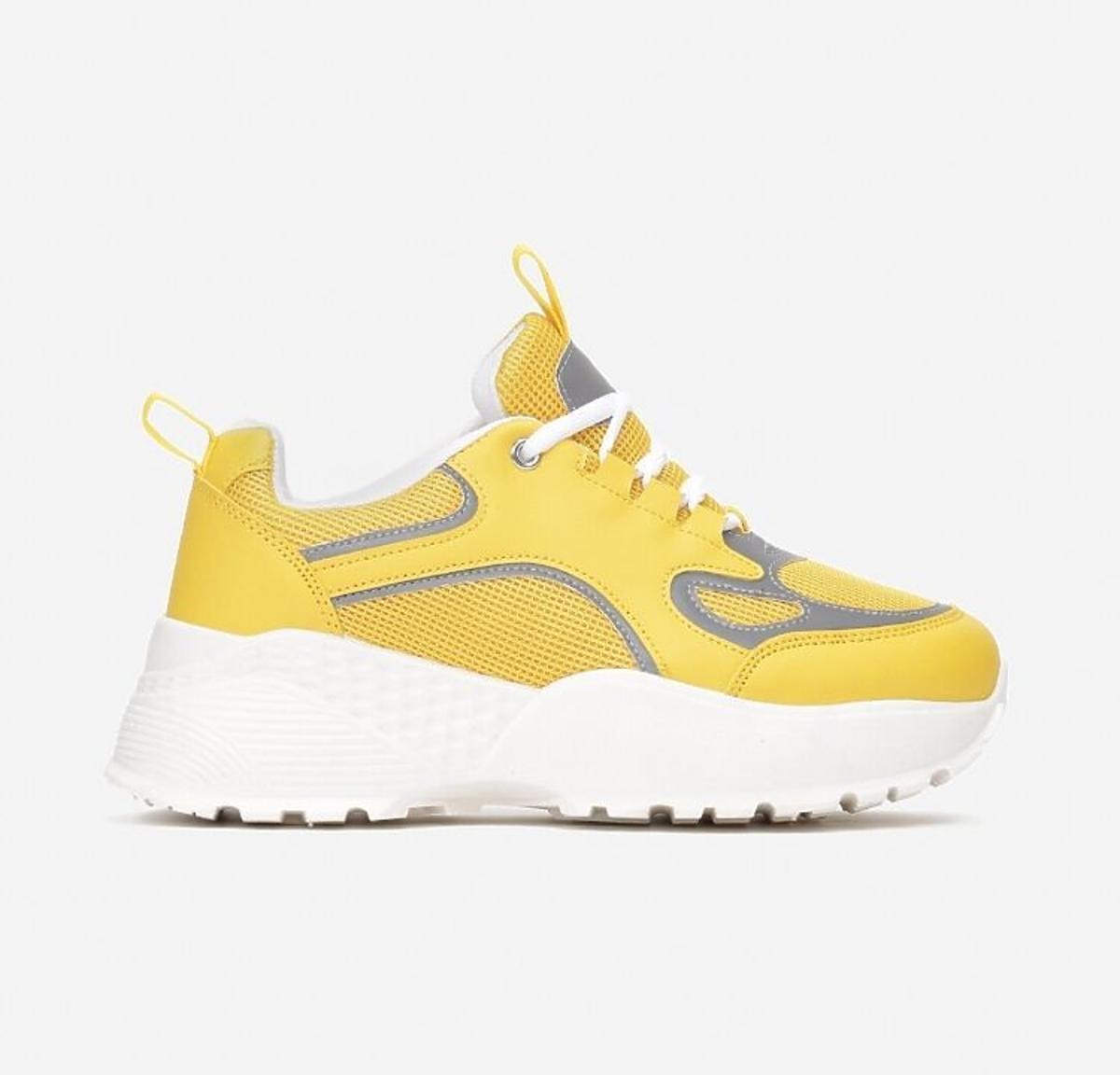 żółte sneakersy Born2be