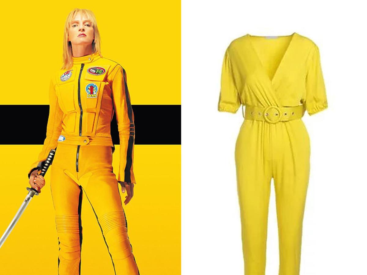 żółty kombinezon w stylu Kill Bill