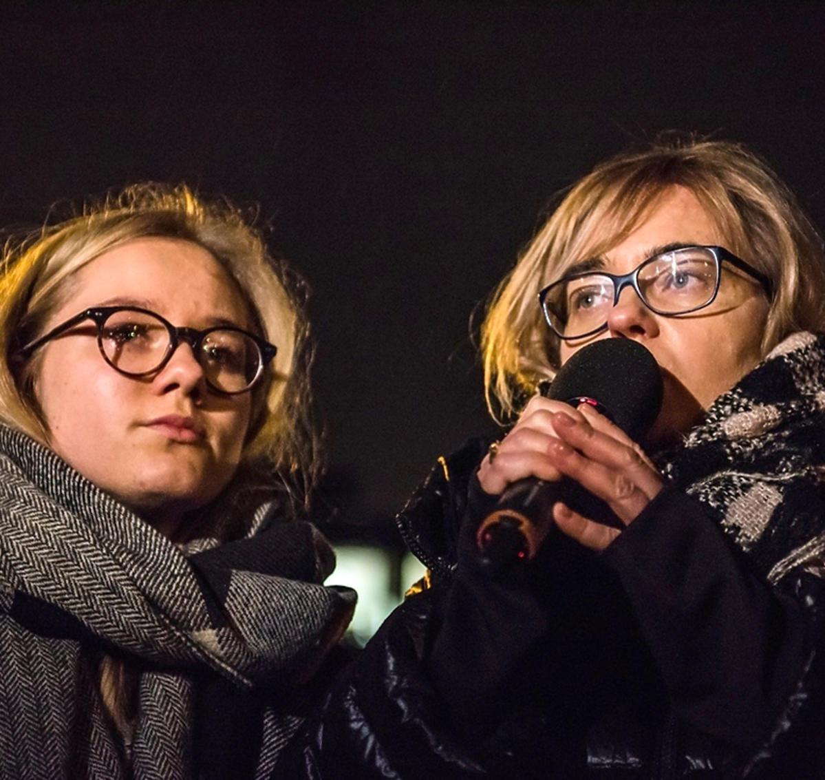 Żona i córka Pawła Adamowicza