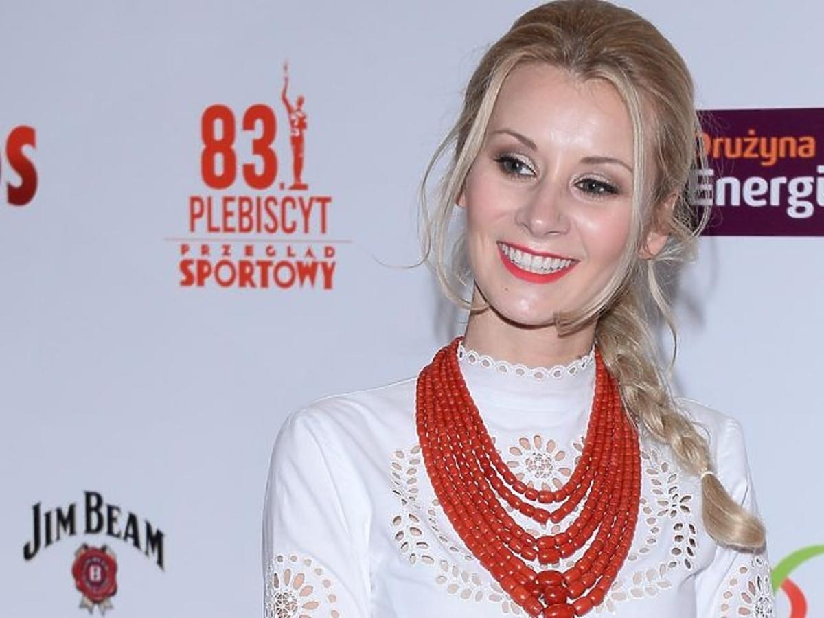 Żona Kamila Stocha na Balu Mistrzów Sportu