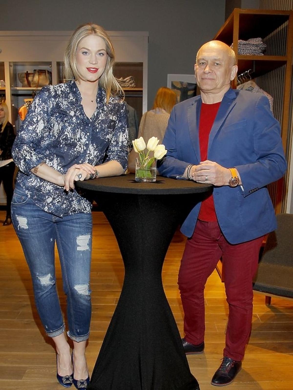 Zosia Ślotała i Andrzej Pągowski na pokazie marki Marc O'Polo