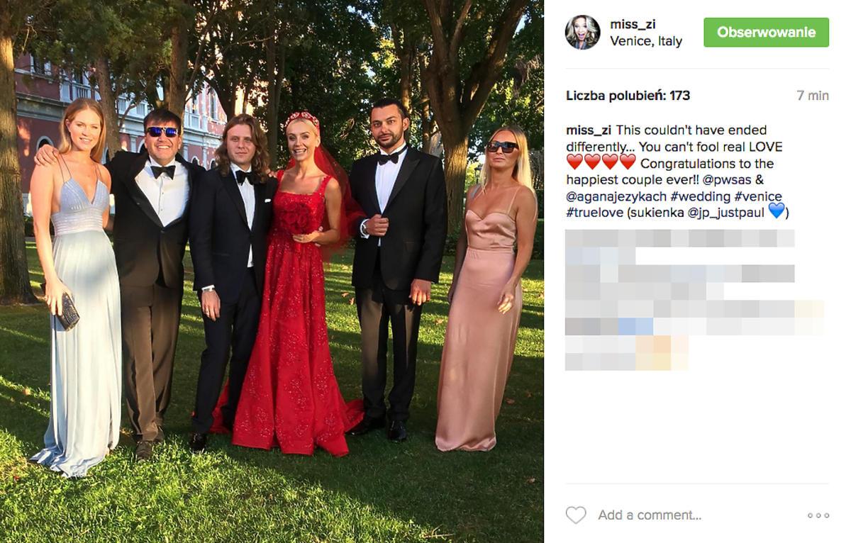 Zosia Ślotała na ślubie Agnieszki Szulim