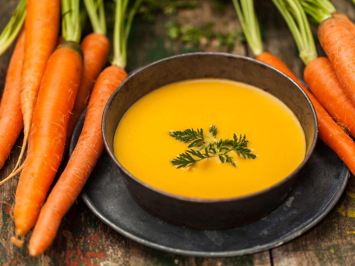 zupa marchewkowa i marchewki