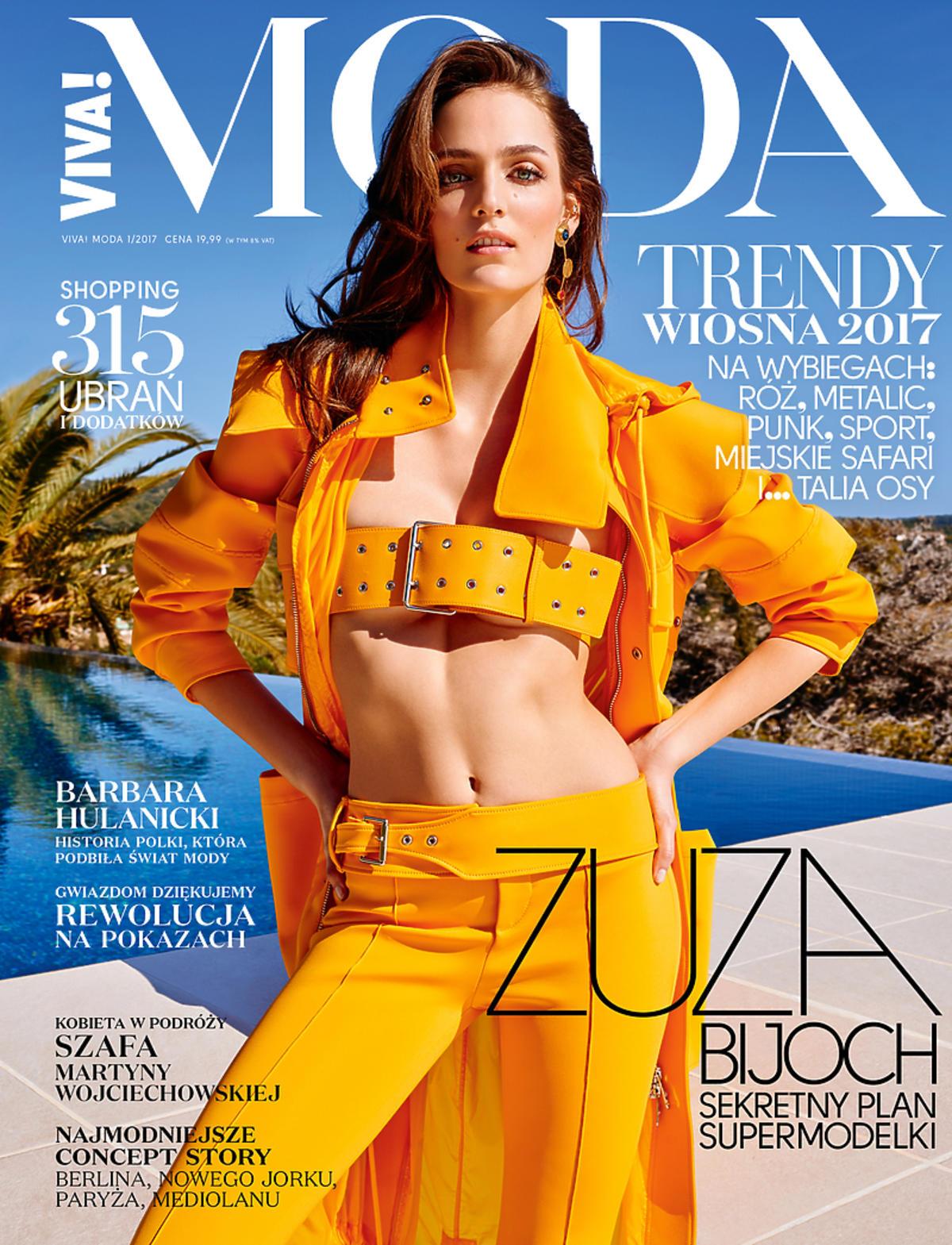 Zuzanna Bijoch w żółtym kostiumie