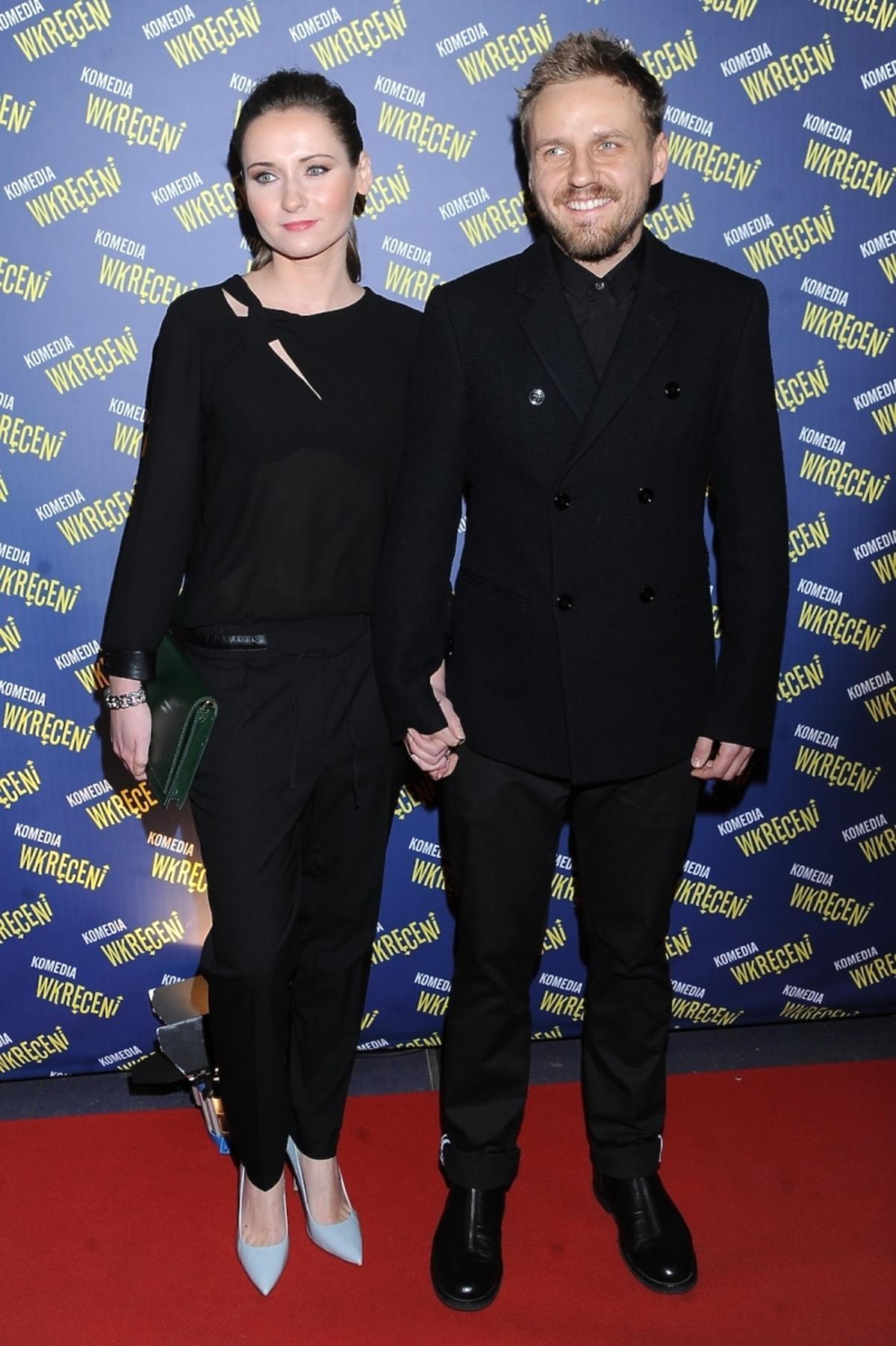 Zuzanna Grabowska i Paweł Domagała na premierze filmu