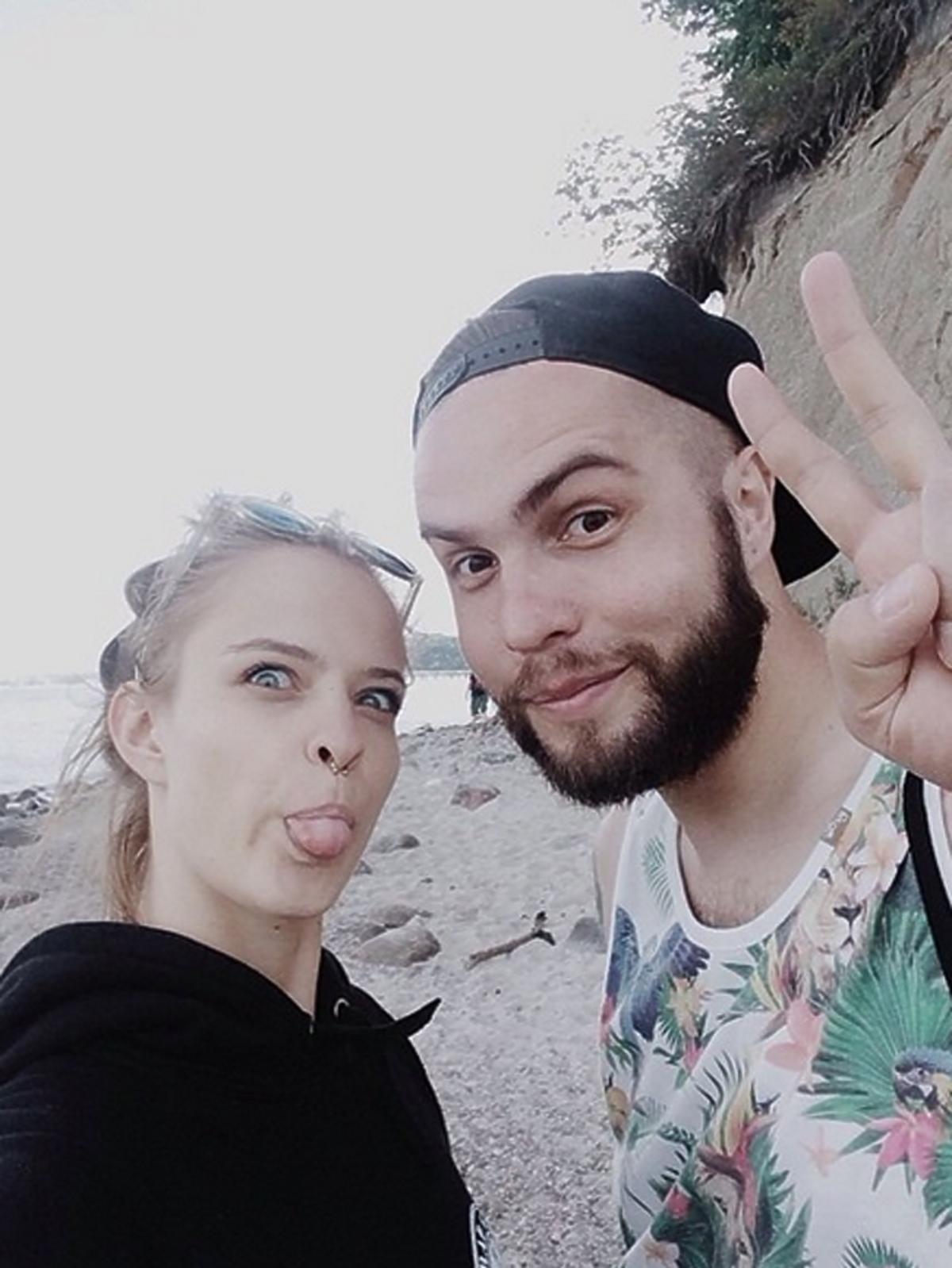 Zuzanna Kołodziejczyk z chłopakiem na wakacjach