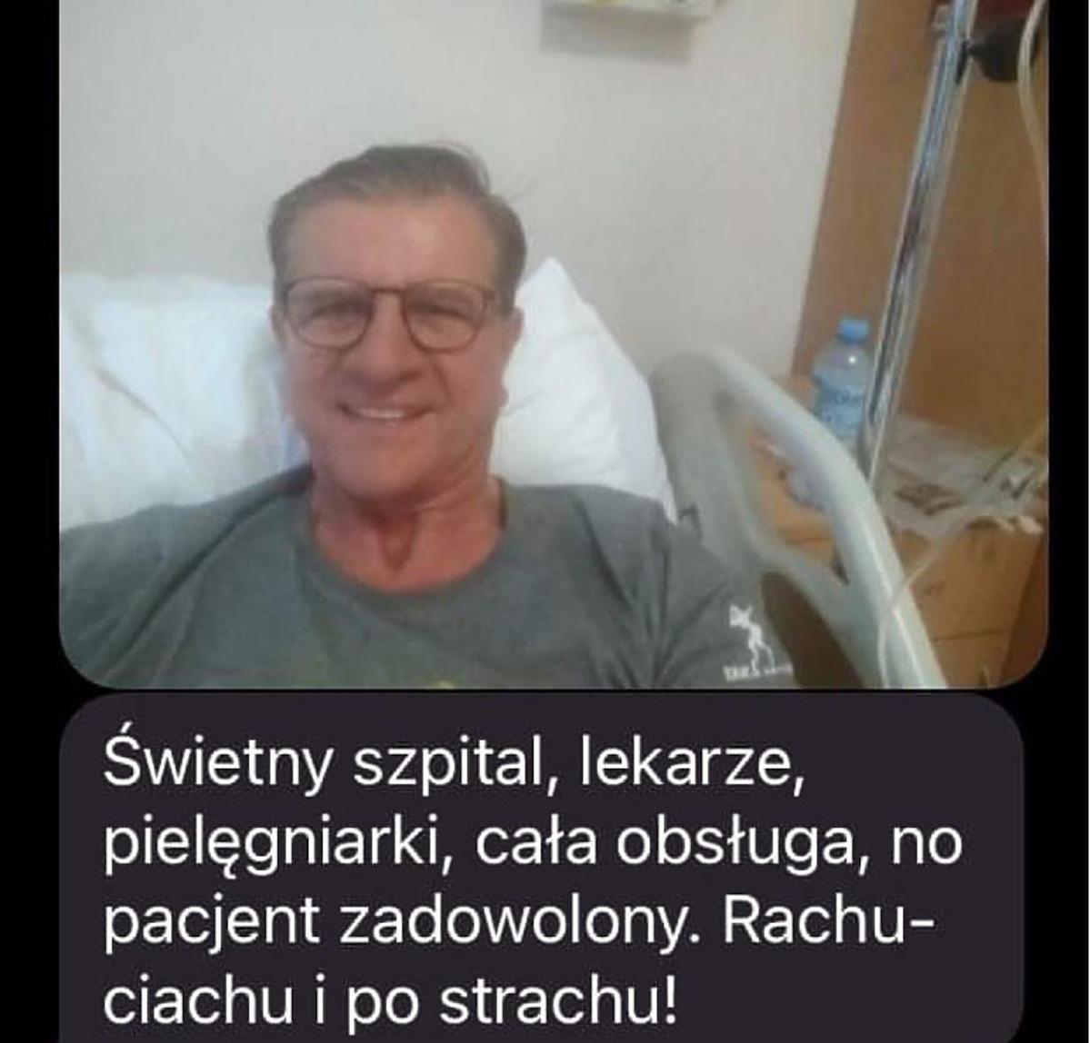 Zygmunt Chajzer w szpitalu