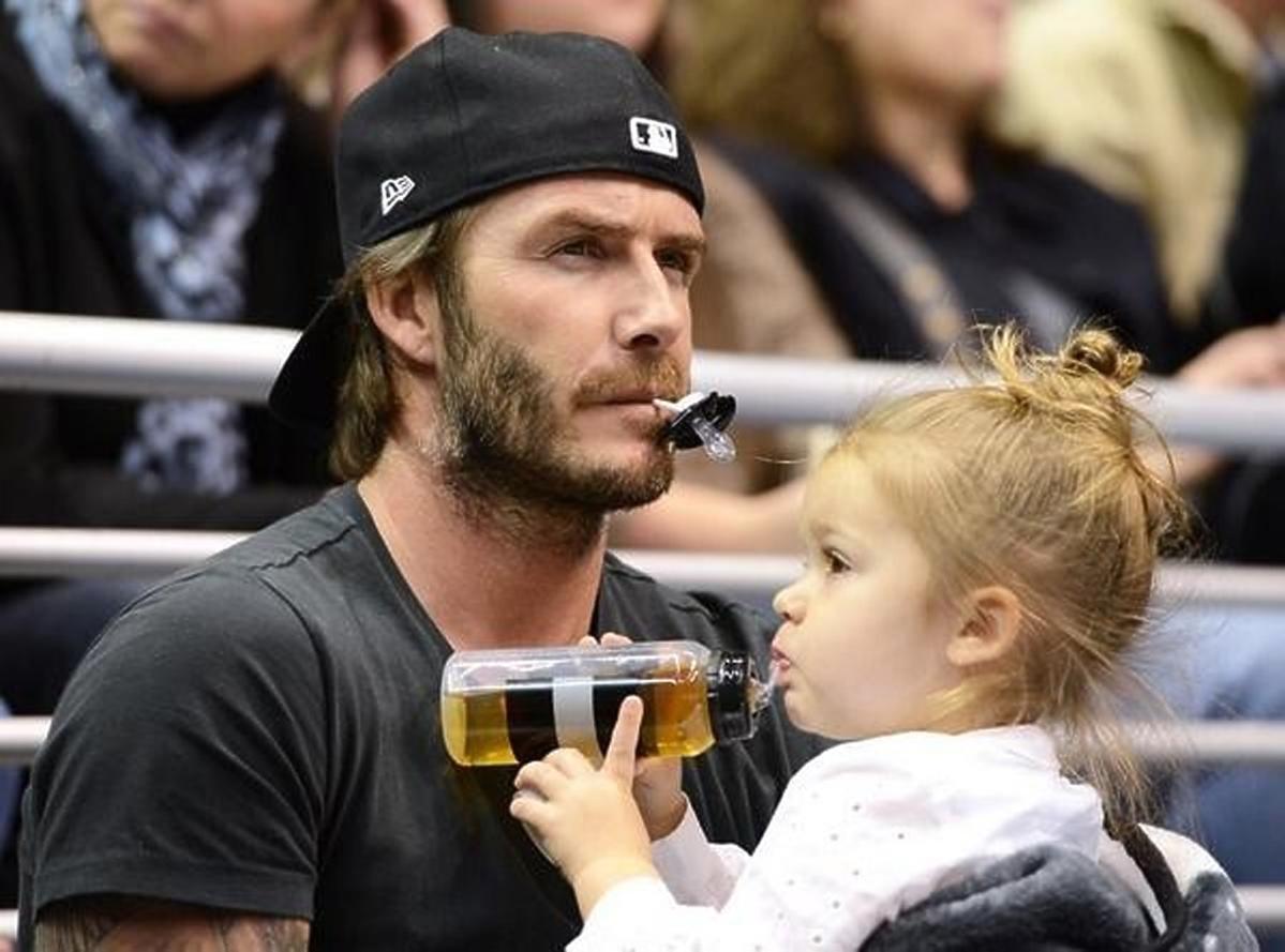 Harper Beckham z ojcem