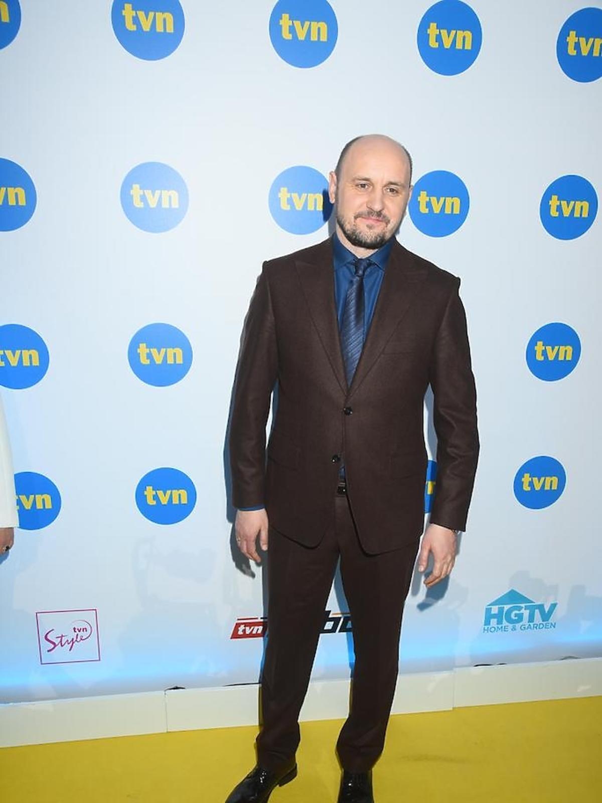 Adam Woronowicz na konferencji TVN
