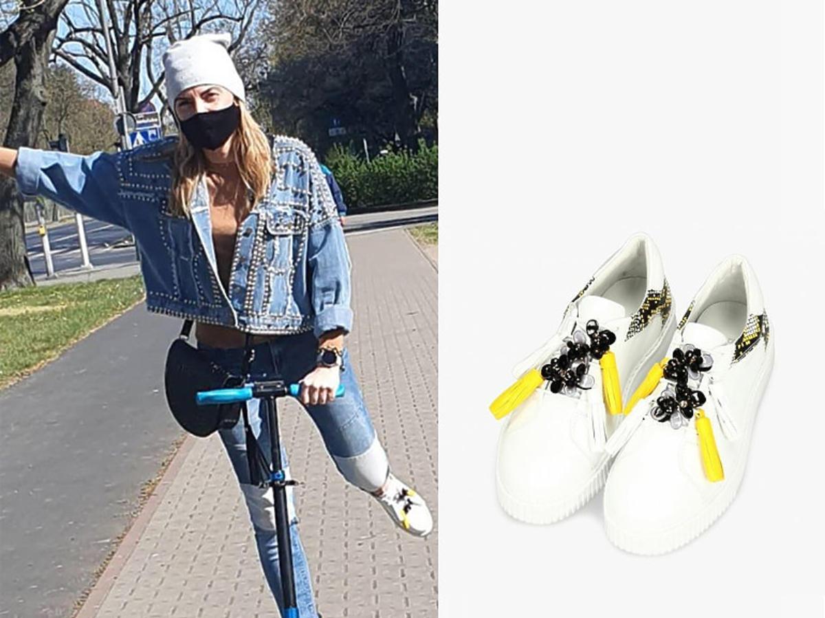 """Ania z """"Rolnik szuka żony"""" w białych sneakersach"""
