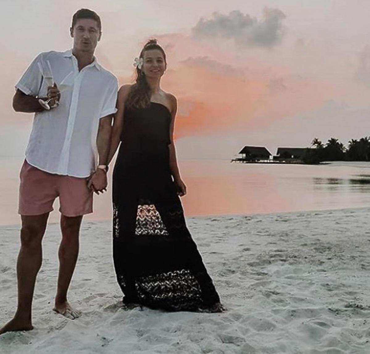 Anna Lewandowska i Robert Lewandowskich spędzają Sylwestra razem