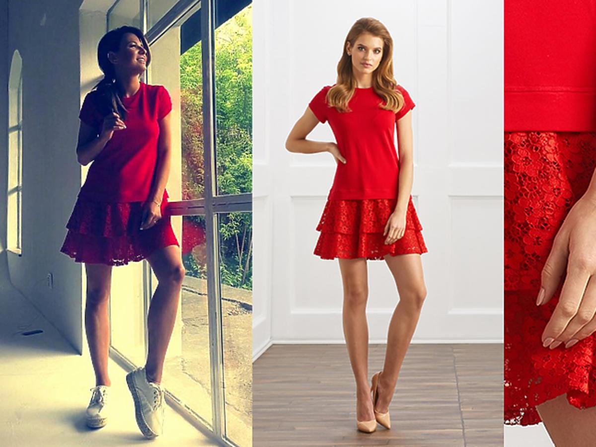 Anna Lewandowska w czerwonej sukience Sugar Free za 239 zł