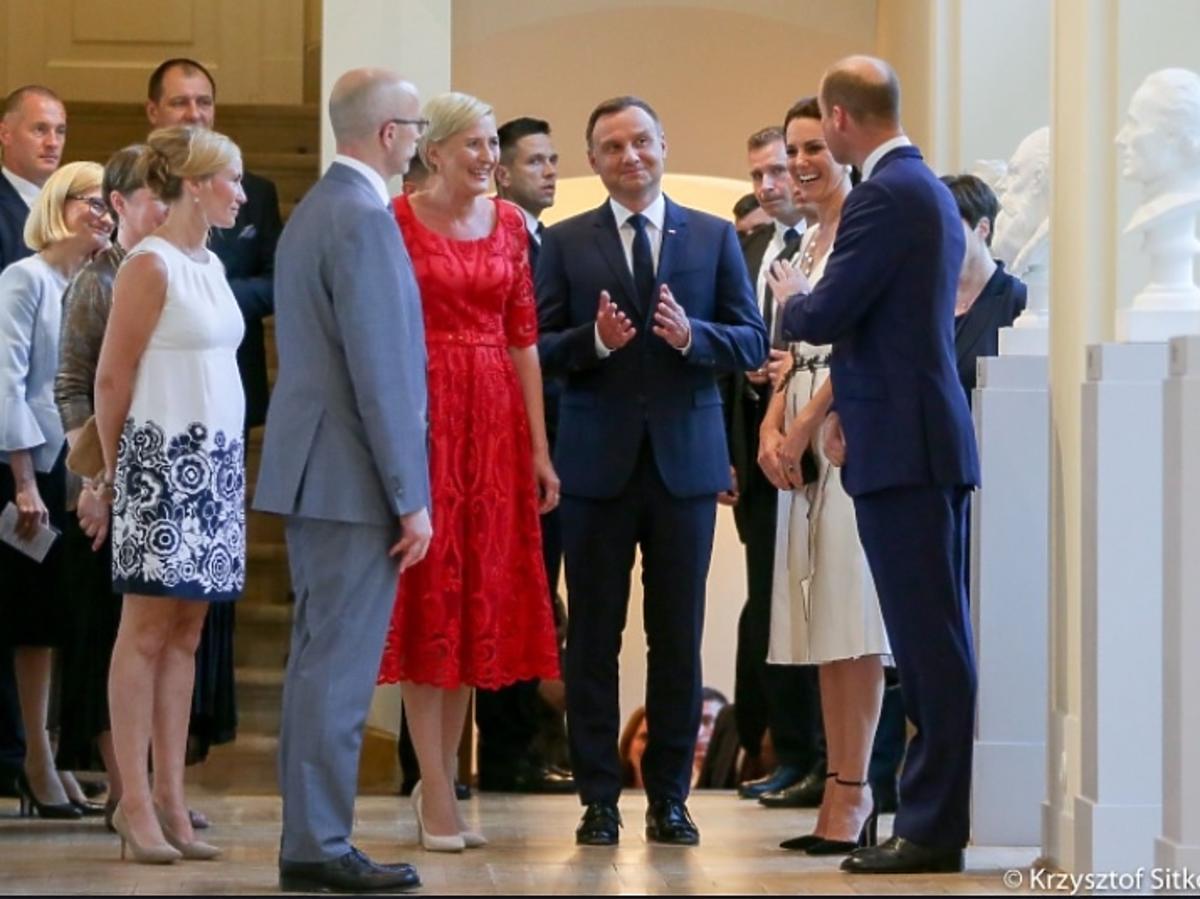 Bal księżnej Kate i księcia Williama w Łazienkach Królewskich - na zdjęciu z Agatą i Andrzejem Dudą