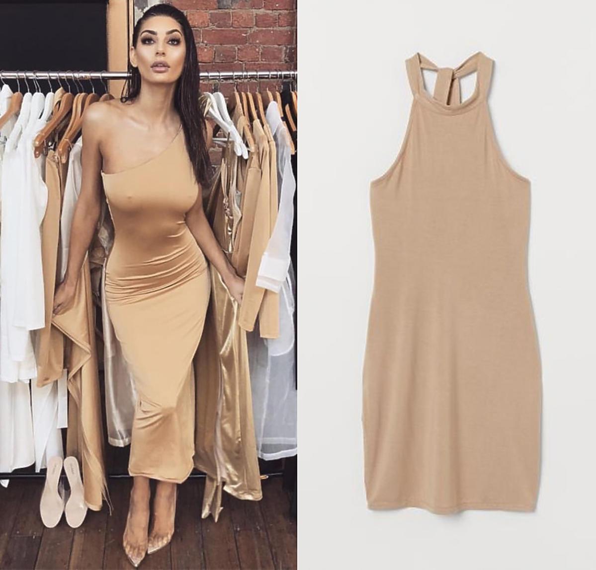 Beżowa sukienka z H&M czyli nude dress
