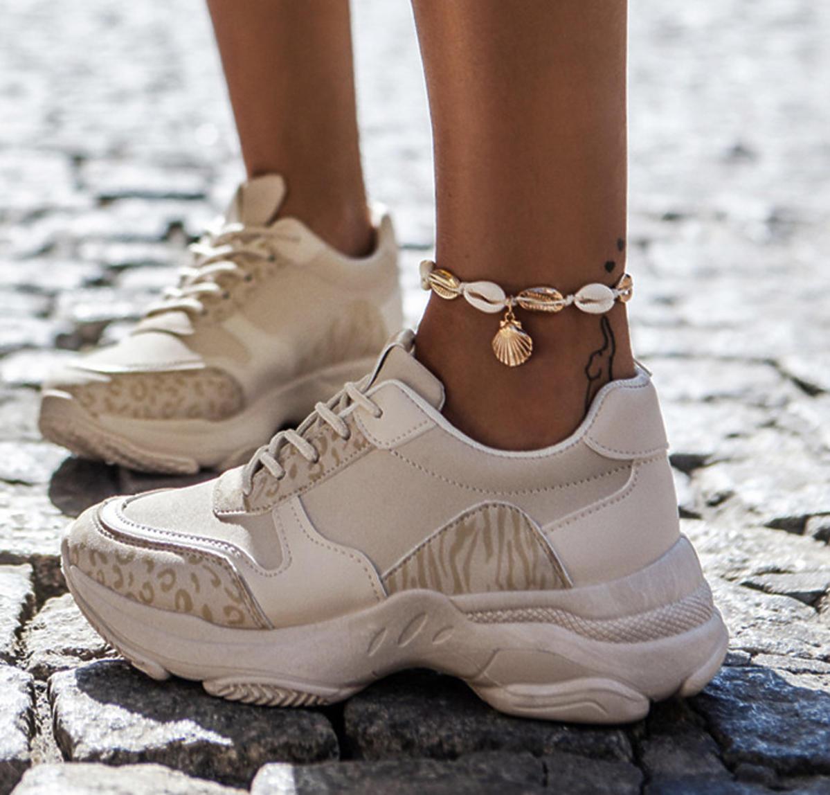 Beżowe sneakersy Louder