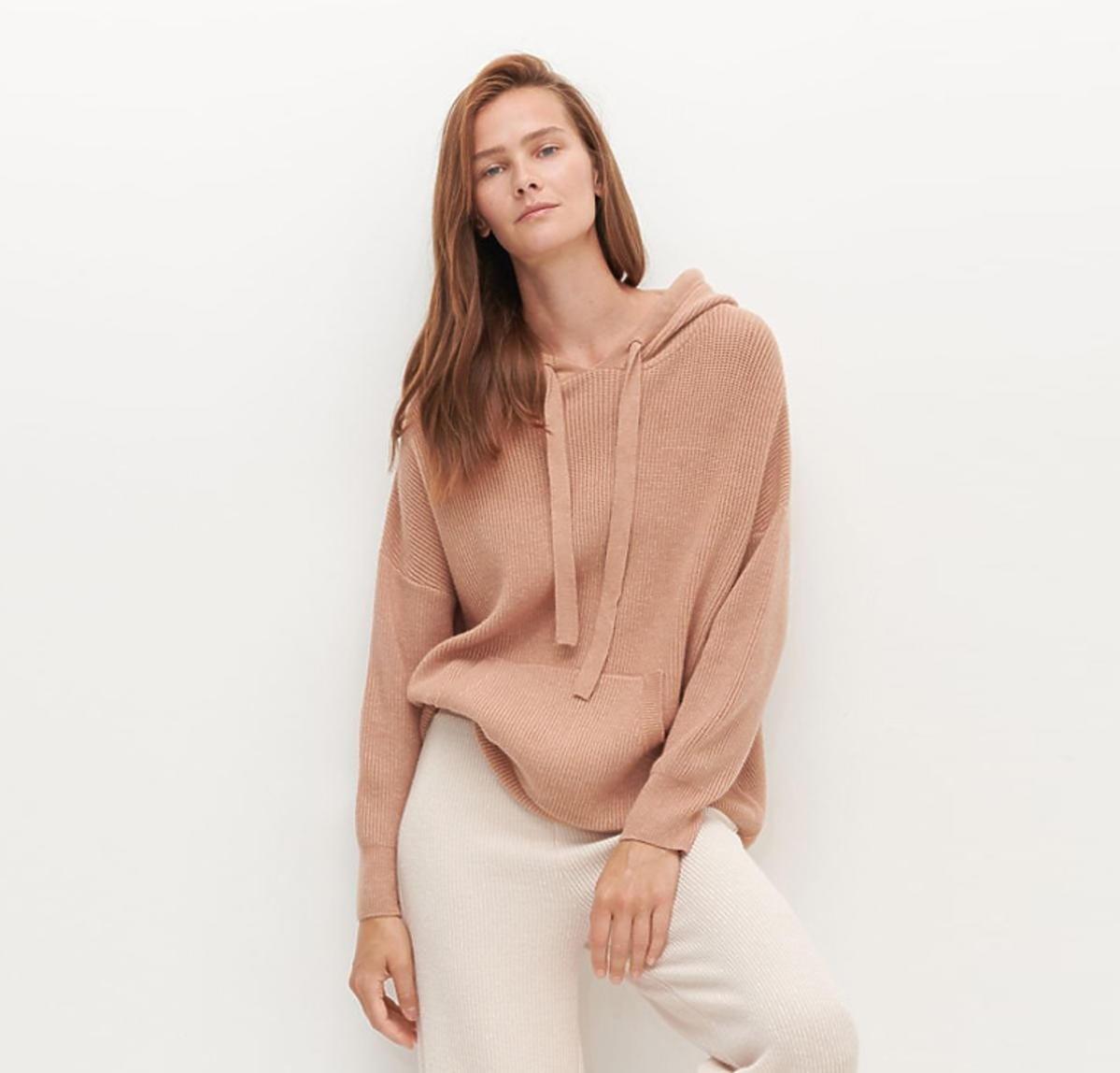 Beżowy sweter z kapturem Reserved, 69 zł