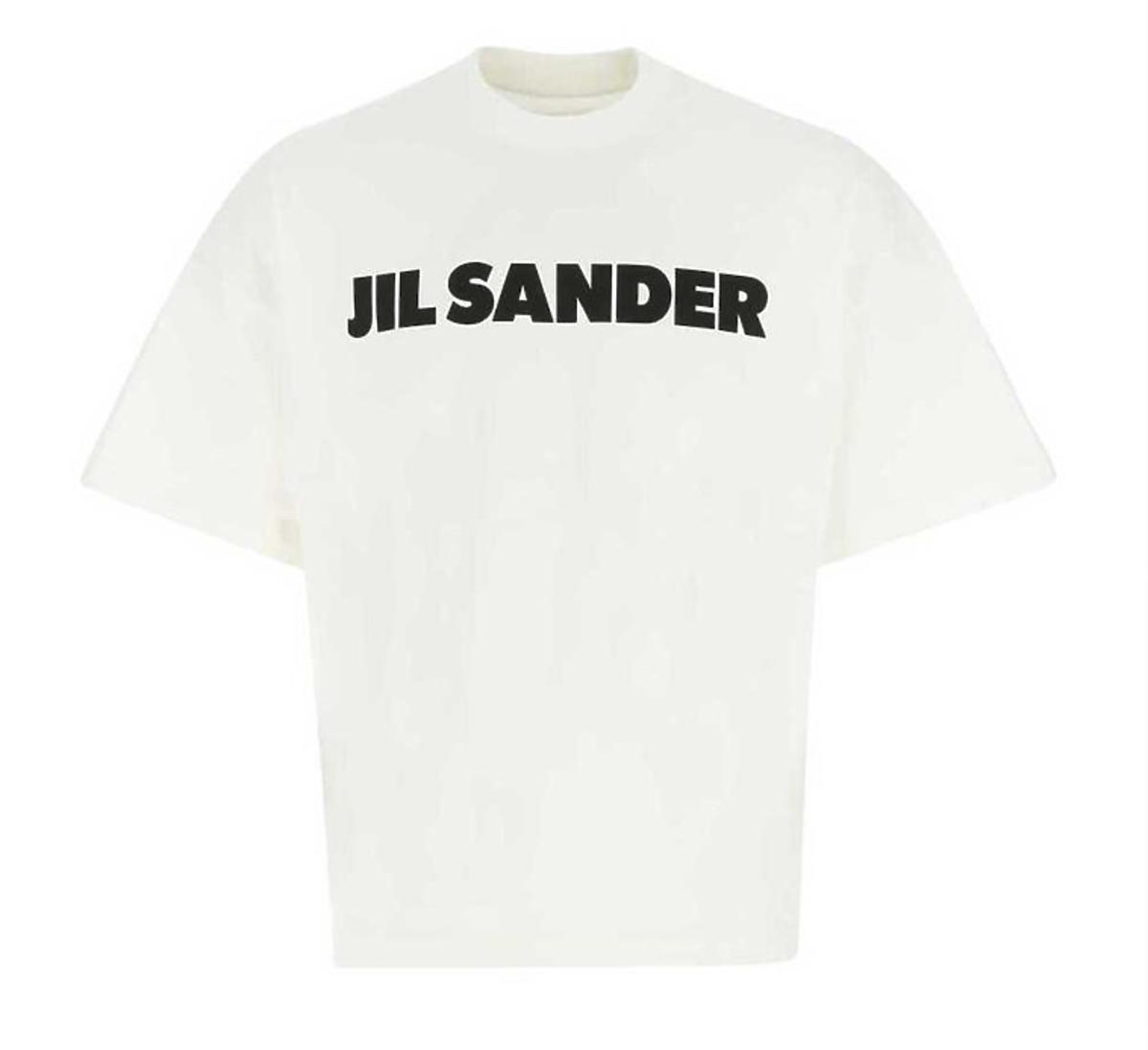 Biały t-shirt Jil Sander