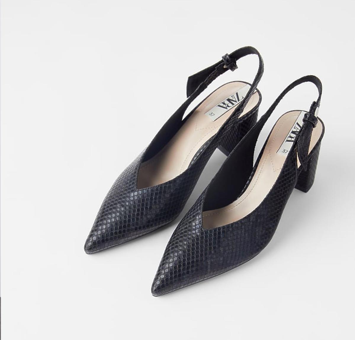 Buty na obcasie z odkrytą piętą