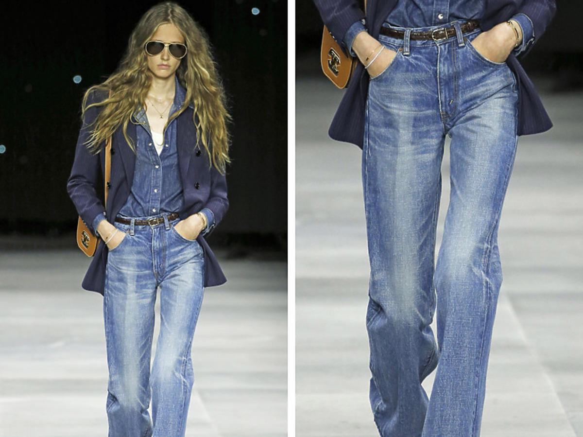 Celine. Modne jeansy wiosna 2020