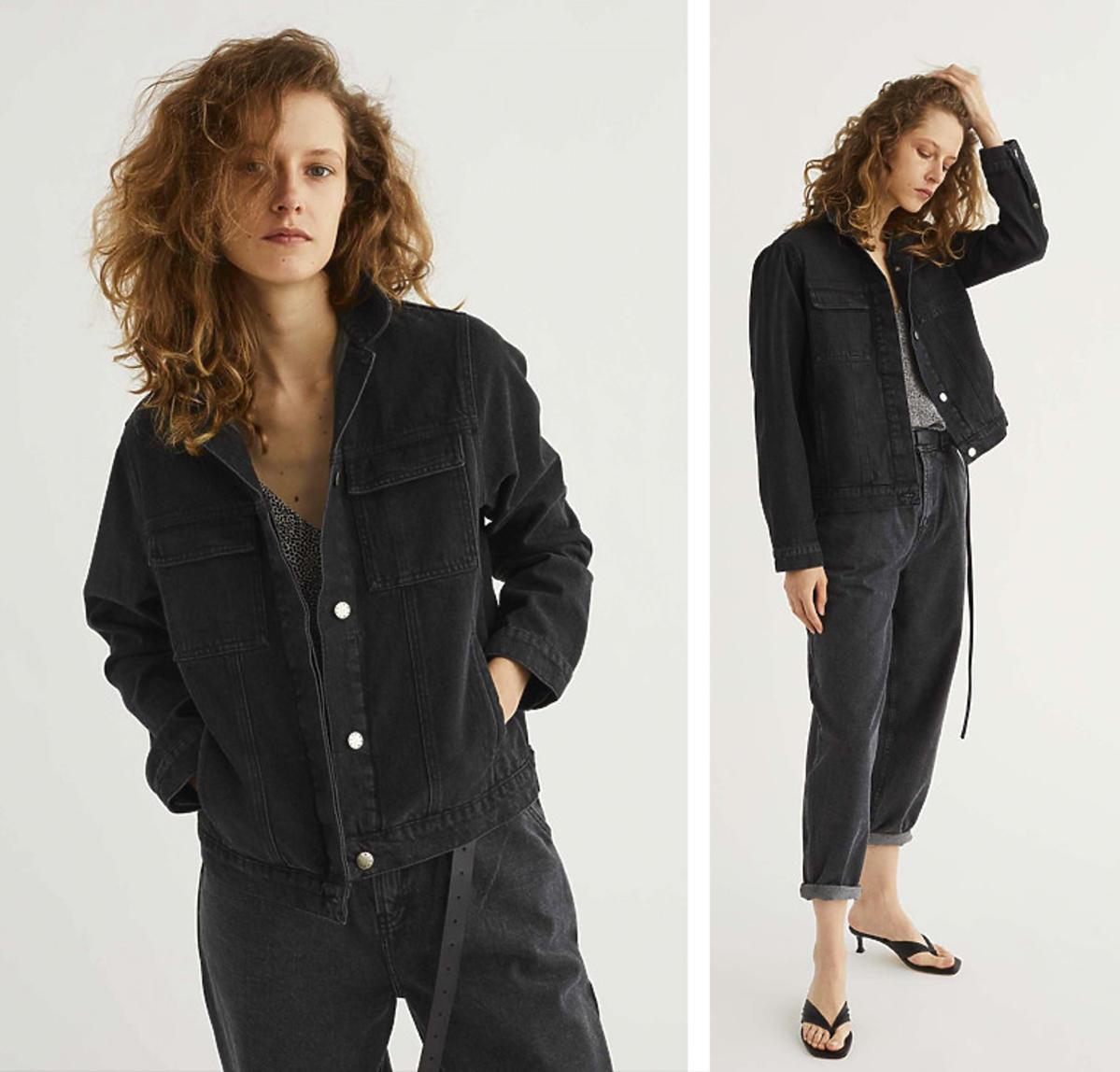 Ciemnoszara kurtka jeansowa Elementy Wear