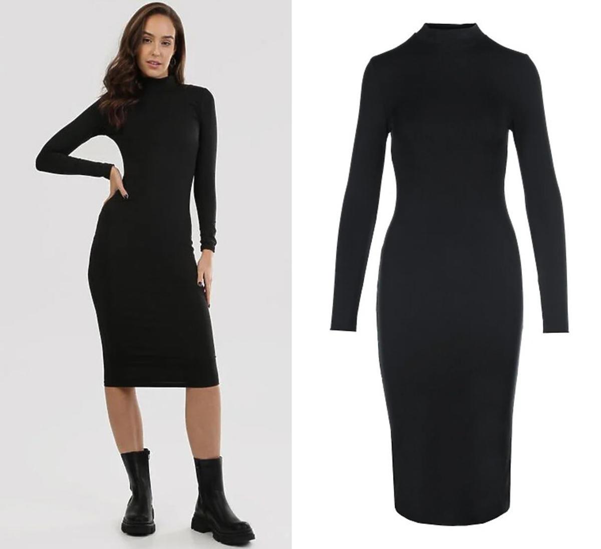 Czarna sukienka z golfem, Born2Be