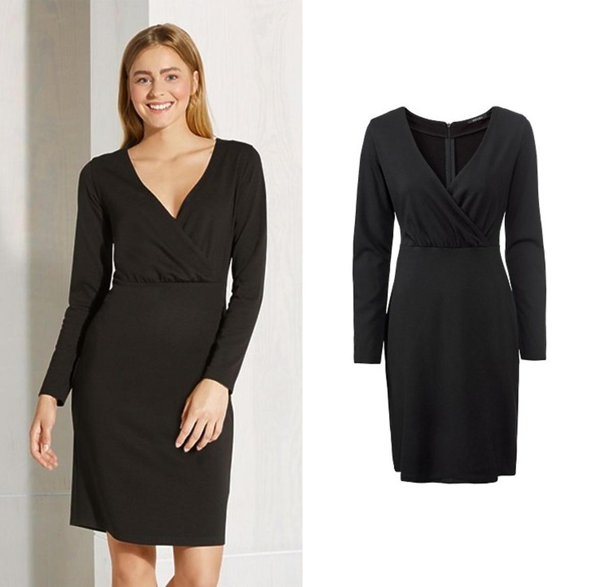 Czarna sukienka z Lidla do pracy, 44,99 zł