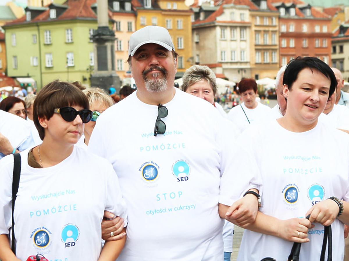 Dariusz Gnatowski z żoną i córką Julią
