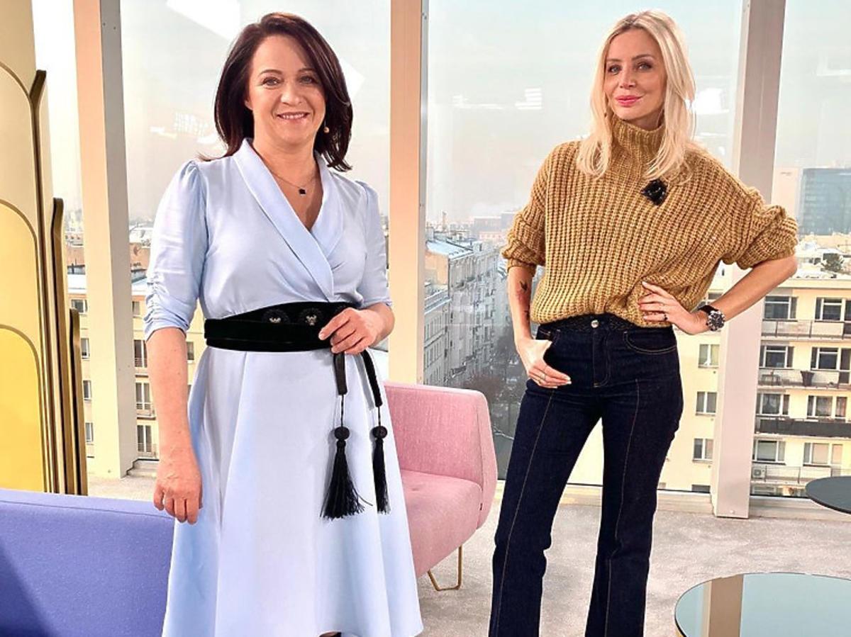 """Ewa Drzyzga i Agnieszka Woźniak-Starak w studiu """"Dzień Dobry TVN"""""""