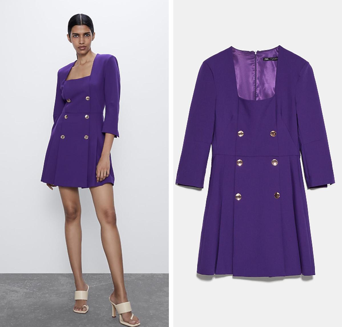 Fioletowa sukienka, Zara, 249 złotych