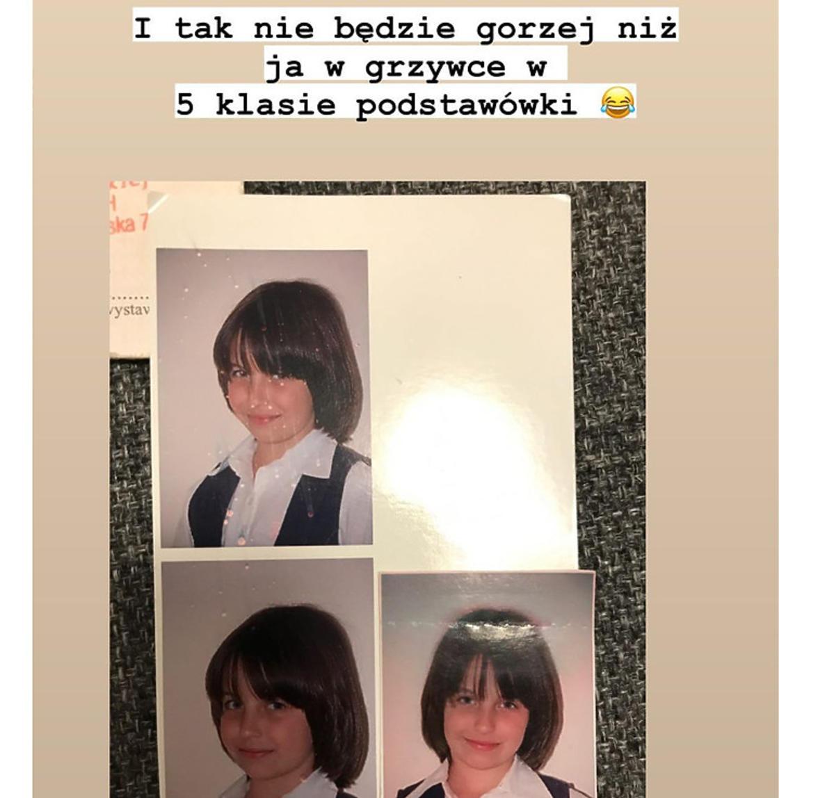 Julia Wieniawa pokazała zdjęcie z czasów podstawówki